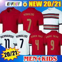 2020 2021 Soccer Jerseys Portekiz Futbol Forması RONALDO ANDRE SILVA PEPE J.MARIO QUARESMA BERNARDO NANI EDER Çocuk Milli Takım Futbol Formaları