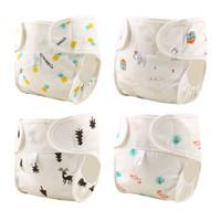 Pano fraldas reutilizável algodão bebê fraldas lavável capa de fralda nascido à prova d 'água treinamento calça bolso nascimento para potty