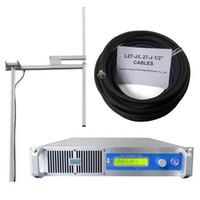 YXHT STEREO SMART 2000W 87.0-108MHz Estación de radio de transmisor FM con antena dipolo 1-BAY 30 metros de 1/2 '' Cables de alimentación Equipo de transmisión de largo alcance