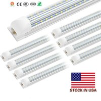 V Shaped Integrated LED Tubes Light 4ft 8ft LED Tube T8 60W 72W 120W 150W Double Sides Bulbs Shop Light Cooler Door Light