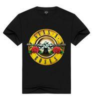Yaz Ücretsiz Nakliye için Sıcak Satış Guns and Roses Erkek T Shirt O Yaka Kısa Kollu Tees Moda 3D Baskılı tişörtleri