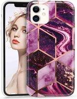 Mármol caso del iPhone de la textura, ultra delgado de TPU con Amortiguador de protección para el iPhone 12 Pro, iPhone 12 Max 6.1 pulgadas 2020