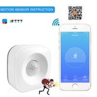 Tuya WiFi mouvement PIR sécurité Capteur infrarouge corps humain Alarme Détecteur Compatible IFTTT Smart Home Automatisation