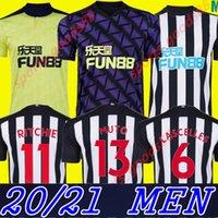 Homens 20 21 NUFC Futebol Jerseys Shelvey Home Away 3Rd Novo 2020 2021 Joelinton Almiron Ritchie Gayle Maillot de Football Shirt