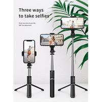 3 IN1 Q02 Beauty Selfie Monopod Tripod Portátil Inalámbrico Bluetooth Selfie Stick con control remoto plegable para teléfono inteligente