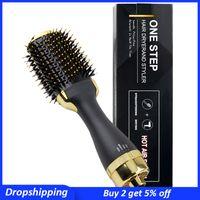 Pennelli per capelli elettrici Asciugatrice Asciugatrice Volumizer Air Brush Air Ion Salon Styler Bigodino Straightener Blow Spin per le donne
