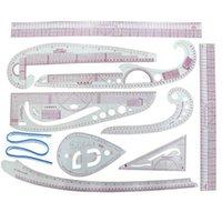 INNE 8/9 / 10pcs / set Règle Outils Accessoires de couture sur mesure Kit de mesure Dessin Yardstick manches bras Français courbe de coupe