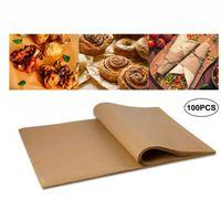 30 * 40cm Baking Folhas de papel churrasco cozimento padaria partido do BBQ de Non-stick frente e verso do papel óleo de silicone pergaminho Retângulo Forno Papel VT1722-1