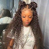 Kinky Kıvırcık Peruk Kıvırcık İnsan Saç Peruk Tam Dantel İnsan Saç Peruk Ile Bebek Saç Moğol Afro Kinky Kıvırcık Dantel Ön Wigs254