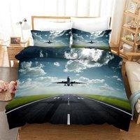 Avion housse de couette Espace Sky Imprimer Literie pour Enfants Roi Queen Size Bedcloth 3D Couvre-lits pour les adolescents Simple Double