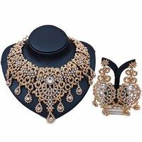 Retro africani Dichiarazione Gioielli Imposta colore dell'oro della collana hanno regolato per il regalo accessori di promenade delle donne della festa nuziale