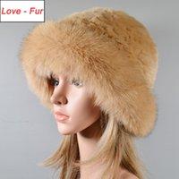 Шапочки / черепные колпачки зимние теплые женщины вязаные настоящие натуральные меховые шляпа котелок сплошные рекс шапочки леди чепуля