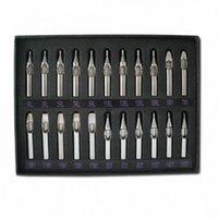 Pro 22 pc lotti 304 del tatuaggio dell'acciaio inossidabile punte ugello del corredo dell'insieme Set Per s alimentazione gw91 #