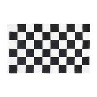Siyah Beyaz Kare Damalı Yarış Araba Bayrağı Yüksek Kalite Doğrudan Fabrika Stock Çift Dikişli Dekorasyon için