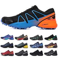 salomon sneakers Nuovo velocità di arrivo attraversare 4 mens CS esterno funzionare Scarpe Speedcross 4 corridore IV Nero Verde formatori Uomini Sport Sneakers Scarpe Scarpe 40-46