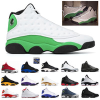 13 13s Jumpman Män Kvinnor Basket Skor Klass av 2002 Hyper Royal Lucky Green Playground 13s Mens Sport Sneakers