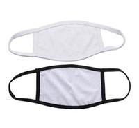 Boşluklar Süblimasyon Yüz Maskesi Yetişkinler Çocuklar DIY Baskı Yıkanabilir Siyah Beyaz Yüz Maskesi Ile Filtre Cep Açık Bisiklet Sürme Maske FY9202