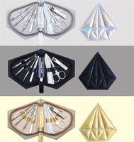 Modo creativo Nail Clipper Set 7 pezzi semplice manicure Coltello portatile attrezzo di bellezza 3 colori diamante borsa nave libera 5set