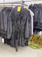Rose ERS abrigo de piel de visón Real Women Coat invierno natural pieles de visón y chaquetas Mujer caliente larga ropa de las mujeres de la vendimia 2020 19100 T200908