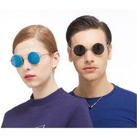 Hot Brand Designer Classic Small Polarized Round Sunglasses Men Women Vintage Retro John Lennon Glasses Driving Sunglass Eyewear