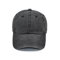 씻은 야구 모자 순수한 면화 솔리드 컬러 캐주얼 스냅 백 모자 성인 어린이 조정 가능한 패션 선 스크린 태양 모자 HWB1970