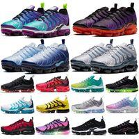 Más TN Hyper Violet Hombres Mujeres Running Shoes Zapatillas de cuadrícula Impresión de la red Sé realidad Spirit Treal Rainbow Black Laser Crimson Mens Deportes Deportes Zapatillas de deporte