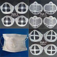 Wiederverwendbare Gesichtsmaske Halter Mundschutz Stützfuß Hilfe Breathing Anti Suffocating Waschbar Silikon-Mounts für Erwachsene Größe Masken