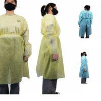 남여 보호 절연 의류 보호 복 일회용 가운 일회용 부직포 보호 복 2 색 비옷 LJJK2488