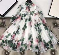 2020 nouvelles filles Robes enfants Vêtements pour enfants printemps été automne fille dentelle Princesse robe de soirée enfants robe