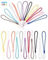 Round nylon sangles chaîne mobile de téléphone portable à la main du poignet porte-clés cordons de charme corde hang bricolage cordon lasso pour la caméra keys MP3 Mp4 2000pcs / lot