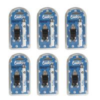 Novos cookies Vape Battery 350mAh PRETOAT PEN USB Charger Bollister Kits 350mAh Pré-aqueça Vaporizador Vaporizador Variável Tensão Atomizer Baterias