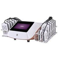 새로운 패턴 휴대용 Lipo 레이저 슬리밍 기계 14 패드 Lipo 레이저 미용 장비 체중 감소 기계 살롱 홈 사용 무료 배송