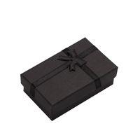 32pcs Jóias 8x5cm colar preto para o presente do anel de jóia caixa de embalagem Pulseira Brinco Display com esponja MX200810