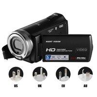 كاميرات الفيديو التحكم عن بعد 30 إطارا في الثانية المحمولة 16x تكبير رقمي زاوية واسعة كاميرا فيديو مع ميكروفون FHD 1080P شحمة USB قابلة للشحن