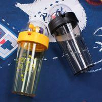 مدرسة حار بيع 17oz الصف الغذاء الآمن طالب الأطفال شرب زجاجة مياه بلاستيكية مكتب كؤوس عصير شاي قهوة القدح Tumblermble
