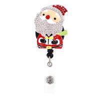 10pcs / lot Moda Tasarımı Noel Hediyesi Santa İçin Hemşire İşçi DIY Kimlik Kartı Rozet Çekme Makara