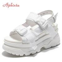 Aphixta Platform Shoes Women Sandals Wedge Heels Shoes Height Increaming Women Buckle Thick Soled Beach Sandals Woman Sandal Y200620
