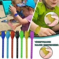 Hand Sanitizer Bracciale Portable Hand Sanitizer disinfettante Sotto-imballaggio del braccialetto del silicone Wristband Distributore di Wearable 10ML Ricaricabile