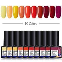 Nail Art Kitleri Lemooc 10 Adet / grup Renk Jel Lehçe Seti 116 Renkler Yarı Kalıcı UV LED Vernik Soak Kapalı Lakçalar Taban Üst Kat