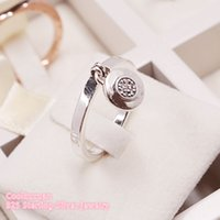 New 100% 925 Sterling Silver brand Signature Ring, Clear CZ Ring For Women Wedding Gift Original Jewelry Accessories