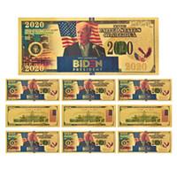 Spedizione gratuita Biden Moneta Commemorativa 2020 Stati Uniti elezioni generali Forniture 24K Gold Foil Banconota Plastic Head creativo della moneta HHF937