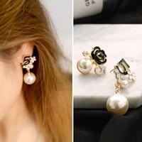 Fooderwerk Bijoux en perles Numéro 5 longue chaîne Dangle Designer Luxe Bijoux Brincos Orecchini Boucles d'oreilles pour les femmes