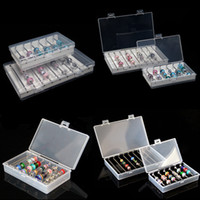 Gioielli Rettangolo acrilico Bracciale Perle assortite bagagli Collection Box Troll Perline Progetti Titolare Bar Organizzatore vassoio Container
