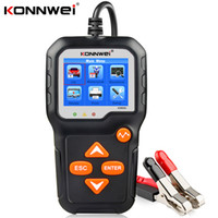 Konnwei بطارية اختبار أدوات 12 فولت 6 فولت سيارة دراجة نارية البارز نظام محلل 2000cca شحن أداة اختبار التحريك KW650