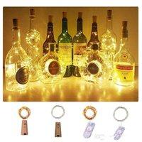 أضواء عيد الميلاد 1M 2M ماء النحاس مصغرة الجنية ضوء سلسلة أضواء الجنية DIY الزجاج حرفة زجاجة أضواء LED سلسلة FY8124