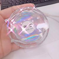 50pcs leeren Kristall runden Magnet Lashes Boxen löschen Wimpern Verpackungsbehälter-Kasten-Acryl Wimper Aufbewahrungsbehälter Tropfen-Verschiffen Bulk Ware