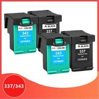 Compatible 4Pack pour 343 337 Cartouche d'encre pour 337 343 Photosmart 2575 C4180 D5160 Deskjet 8050 6940 D4160