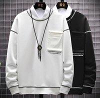 Японский стиль пуловер Сыпучие Designer Plus Размер Мужские толстовки Crew Neck с длинным рукавом фуфайки Осень Повседневная одежда Мужской