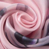 100% bufanda de seda para las mujeres de la impresión floral Hijab bufandas Mujer 170 * 50cm chal y Envolturas elegantes bufandas enrolladas a mano Pañuelo 2020