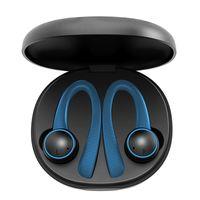 Bluetooth Earphone TWS 5 .0 Tent bleu sans fil Earhache T7 Pro Edrombs Sports Casque pour tous Smartphones